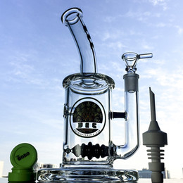 glass mouthpieces 2019 - Glass Mouthpiece Small Bong 9.5 Inch Beehive Perc Bongs 5mm Thickness With Ceramic Nail Cap Ball Perc Dab Rig Water Pipe