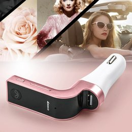 Handfree car kits online shopping - hot G7 Smartphone Bluetooth MP3 Radio Player Handfree FM Transmitter Modulator A Car Charger Kit Support Hands free Micro