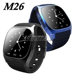 real phones for kids 2019 - M26 Smartwatches For iPhone Samsung Android Phones With Real Altimeter Smart Wrist M26 Bluetooth Smart Watch