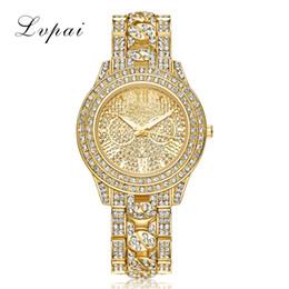 full diamond watch gold 2019 - Retail Full Shinny ablaze twinkling Drees Diamond Watch Luxury Fashion Casual Classic Retro Women Watch Wholesale Price