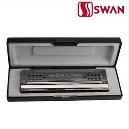 Harmonica tuning online shopping - New Arrival Swan Silver Double Tuned Harmonica two Key of C and G Tremolo Mouth Organ Stainless Steel Musical Instrument