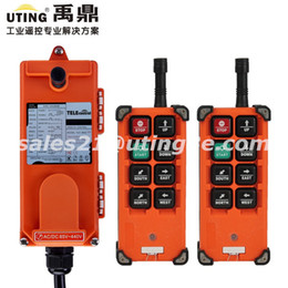 Discount remote controlled cranes - Wholesale- F21-E1B industrial wireless universal radio remote control for overhead crane AC DC 2transmitter and 1receive