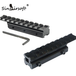Chinese  New CNC machining Tactical Dovetail Scope Extend Mount 11mm to 20mm Picatinny Weaver Rail Adapter Fits dovetail 11mm rail. manufacturers