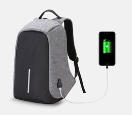 Anti-theft backpack, male and female large capacity waterproof and anti-theft USB charging backpack backpack bag college students' computer