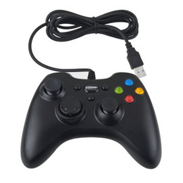 Chinese  Xbox 360 Controller Gamepad USB Wired Joypad XBOX360 PC Joystick Black Game Controllers for Laptop Computer PC manufacturers