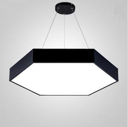 White pendant acrylic lamps online shopping - Modern metal hexagon led pendant light minimalism acrylic pendant fixtures led hanging light suspension lamp luminaria lampares