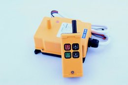 Discount remote controlled cranes - Wholesale- HS-4 4 Channels 1 Speed Control Hoist industrial wireless Crane Radio Remote Control System crane