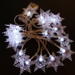 Wholesale usb christmas tree online shopping - Snowflake m leds xmas fairy string decoration christmas tree wedding party festival EU V US V V dry battery or USB operated