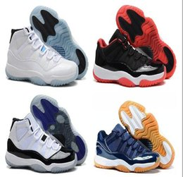 High quality retro 11 Navy Gum Blue space jam white red Varsity Red Bred Georgetown Basketball Shoes Men Sports Sneakers