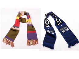 1pc Deluxe Doctor Who Scarf Fourth 4th Dr. Thick Warm Soft Knitted Striped Scarves with Tassels Xmas Birthday Gift Cosplay