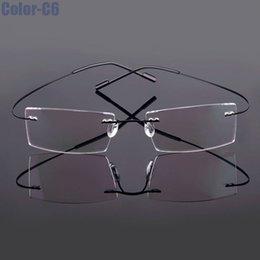 Rimless eyeglass fRames wholesale online shopping - 2017 New Non Hinged Titanium Rimless Optical Glasses Frame Superlight Flexible Prescription Spectable Eyeglasses colors