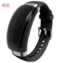 online shopping 2016 New GB Wristband voice recorder VOS sound control adjustable bracelet voice recorder MP3 support languages WR A