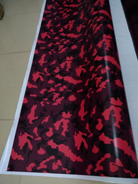 Printed vinyl online shopping - Small Red Large Camo Vinyl For Car Wrap With Air Release Gloss Matt Camouflage Stickers Film Truck Printed self adhesive X30M x98ft