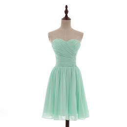 China Sweetheart Short Chiffon Beach Bridesmaid Dress Lace Up 2017 Pleated Wedding Bridesmaid Dresses Mint Green Real Photo suppliers