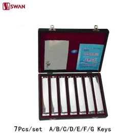 Harmonica tuning online shopping - set Swan Harmonica Hole Tune set packing sliver color Tremolo Harp with Gift Box Mouth Organ for Collect
