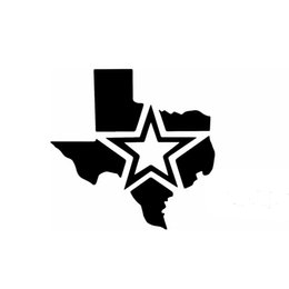 China Star of Texas Map Funny Car Sticker for Truck Window Bumper Auto SUV Door Laptop Kayak Vinyl Decal suppliers