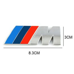 Discount bmw e46 badge - Car styling Car Decoration Emblem Badge M Logo Metal 3D Car Sticker for BMW M3 M5 X3 X5 X6 E36 E39 E46