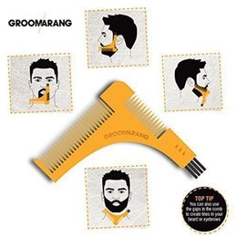 Wholesale GROOMARANG Beard Symmetry Styling Shaping Template Comb Trimming Facial Hair