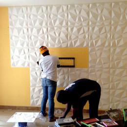 Discount wallpaper panels - 2018 New Arrival OEM Color 3D Wall sticker 3D PVC wall Panel Decorative Waterproof Board Wall DIY Art wallpaper for Home