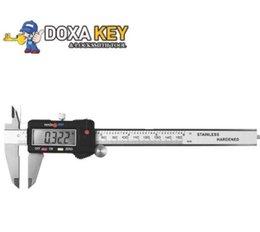 Gm plastics online shopping - New mm inch digital vernier caliper digital caliper electronic caliper micrometer gauge with plastic box Vernier Calipers