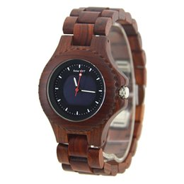 Quartz solar powered casual watches online shopping - Bewell W074A New Men s Analogue Quartz Wooden Solar Watch with Wood Bracelet Wood Wrist Wear Multicolor