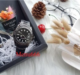 Discount diving watch green bezel - Luxury mens watches Business brand automatic mechanical dive aaa quality watch ceramic bezel luminous stainless pointers