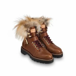 Chinese  TOP-High-Quality winter luxury Brand Martin boots Genuine leather Ankle Boots Casual shoes For women Warm shoes With box Free DHL manufacturers