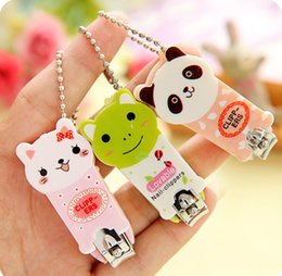 Discount cute cartoon nail clippers - 60pcs Cute Cartoon Animal Pet Nail Clippers Scissors Manicure Tools Stainless Steel Mix Colors 3 Series To Choose
