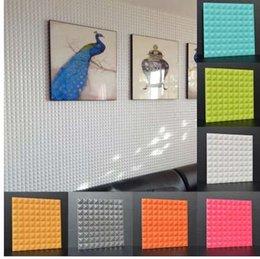 wallpaper panels 2019 - 3D Circular Cone PVC Panels Wall Stickers Self Adhesive DIY Wallpapers Living Room Bathing Room Hotel KTV Waterproof Dec