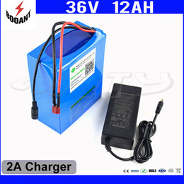 36v lithium battery for electric bikes 2019 - 36V Electric Bike Battery 36V 12AH Lithium Battery For Bafang 850W Motor With 30A BMS 42V 2A Charger eBike Battery Free