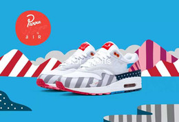 Discount pure platinum shoes - 2018 New Parra x Max1 White Pure Platinum Running Shoes For Men Women Air1 Dutch Countryside AT3057-100 Athletic Sport S