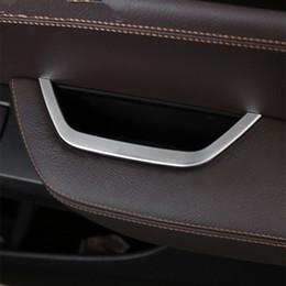 bmw f25 2019 - Chrome Main Drive Door Armrest Storage Box Frame Decorative Trim Strip For BMW X3 F25 X4 F26 Car Accessories Sequin