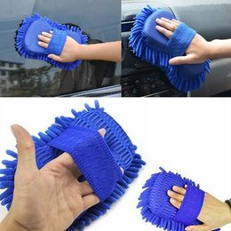 Microfiber chenille hand towel online shopping - Car Auto Hand Wash Towel Chenille Microfiber Soft Washing Gloves Coral Fleece Sponge Cleaning Towel AAA197