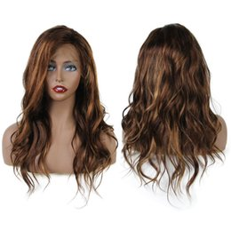 18 human hair highlighted wig 2019 - #4 #16 Highlight Full Lace Wig For Black Women Body Wave Full Lace Human Hair Wigs Brazilian Remy Hair Wig Pre Plucked c