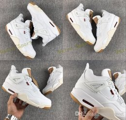 Discount new jeans shoe - 2018 New Release 4 4s White Denim Jeans Basketball Shoes Mens Trainers Sports LS White Denim Jean Sneakers Zapatos