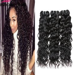 Discount milky way hair - Ishow Human Brazilian Water wave Hair Extensions Wholesale 8a Unprocessed Peruvian Wet And Weavy Vrigin Human Hair Bundl