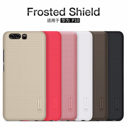 Discount red shield screen protector - wholesale P10 case Huawei P10 Plus case cover NILLKIN Super Frosted Shield hard matte back cover with free screen protec