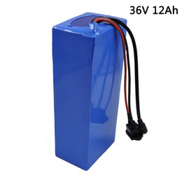 Chinese  36V 12Ah E-Bike Battery For 18650 3000mAh Built-in 15A BMS Lithium Battery pack 36v With Charger 2A Electric Bicycle Battery manufacturers