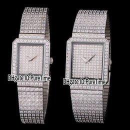 diamond ladies watch silver 2019 - New All Diamond Jewelry Lovers Watches Swiss Quartz Womens Mens Watch Diamond Band Silver White Gold Steel Lady Top Qual
