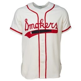 Chinese  Tampa Smokers 1951 Home Jersey 100% Stitched Embroidery Logos Vintage Baseball Jerseys Custom Any Name Any Number Free Shipping manufacturers