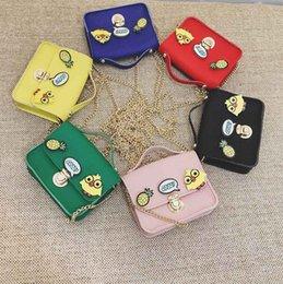 Discount girls cartoon characters - Children Cartoon Handbags Appliques Mini Messenger Bag Cover Handbag Children Coin Pocket Cell Phone Pocket Evening Bag