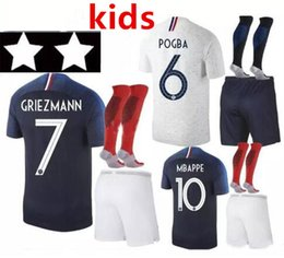 gold cup socks 2019 - Two stars 2018 kids socks football set World Cup pogba 18 19 PAYET MBAPPE GRIEZMANN CO 18 19 PAYET MBAPPE GRIEZMANN COMA