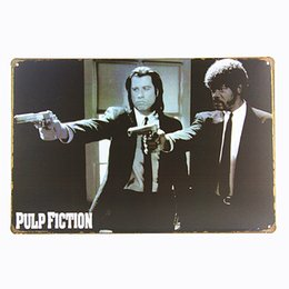 China Pulp fiction Movie Metal Plaque Gift PUB Wall art Painting Bar Craft Tin Sign Decor suppliers
