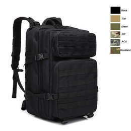 army backpacks camo 2019 - Oudoor Sports Waterproof Tactical Pack   Bag  Rucksack   Knapsack   Assault Combat Camouflage Tactical Camo 45L Backpack