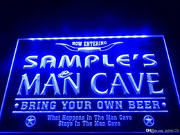 Man fcc online shopping - DZ003b Name Personalized Man Cave Cowboys Bar LED Neon Beer Sign