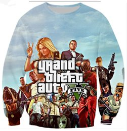 grand theft auto games 2019 - 2018 Classic Games Grand Theft Auto 3d Print Sweatshirt New Fashion Men Women O-Neck Long Sleeve Casual Hoody B136 cheap