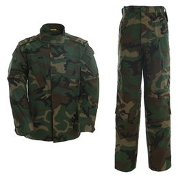 Discount tactical combat suit - Tactical Uniform Camouflage Suit Paintball Army Fatigues Suits Combat Pants +Tactical Shirt Men's Hunting Clothing