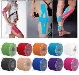 Elastic tapE sport online shopping - 5cm x m Muscle Tape Sports Tape Kinesiology Tape Elastic Adhesive Muscle Bandage Care Strain Injury Muscle Sticker KKA4431