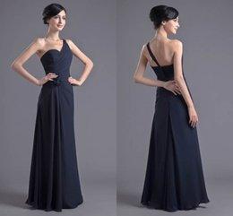 purple evening maxi skirt 2019 - 2018 Hot Sale Cheap Dark Navy Bridesmaid Dresses Chiffon Prom Dresses Bridesmaid Maxi Skirt Evening Party Dress cheap pu