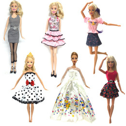 Top girls Toys online shopping - 6 Set Hot Sell Doll Outfits Top Fashion Dress Party Gown Clothes For Barbie Doll Baby Toys Best Girls Gifts Child Toys